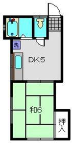 堀井アパート2階Fの間取り画像