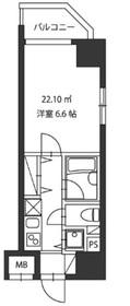 レジディア新御茶ノ水2階Fの間取り画像