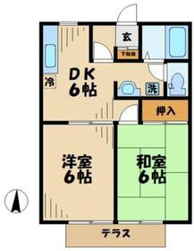 パークサイド角田1階Fの間取り画像