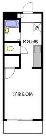 プランタニエール1階Fの間取り画像