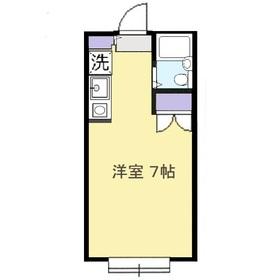 藤間コーポ11階Fの間取り画像