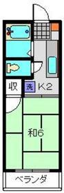 新丸子駅 徒歩12分2階Fの間取り画像