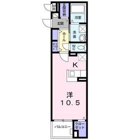 大井町駅 徒歩4分2階Fの間取り画像