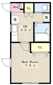 アステル1階Fの間取り画像