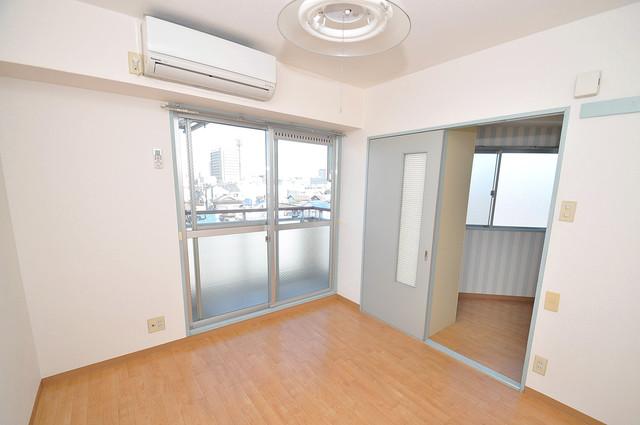 ロータリーマンション永和 朝には心地よい光が差し込む、このお部屋でお休みください。