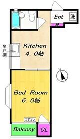 稲田堤駅 徒歩6分2階Fの間取り画像