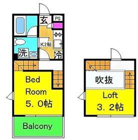 グランドソレーユ(矢野口)1階Fの間取り画像