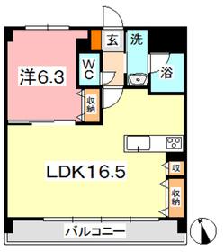 FORTUNA老松3階Fの間取り画像