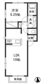 カンパーニャ・ワン C1階Fの間取り画像