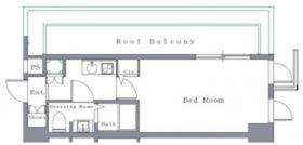 ル・リオン品川二葉5階Fの間取り画像