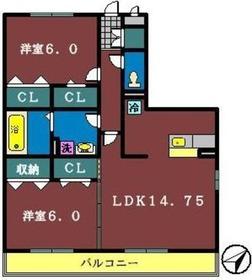 アトリア13階Fの間取り画像