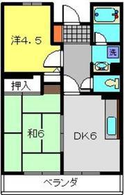 北新横浜駅 徒歩24分6階Fの間取り画像