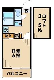 本厚木駅 バス21分「宿原」徒歩5分2階Fの間取り画像