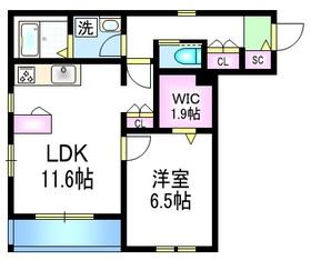 Viseo DC2階Fの間取り画像