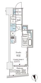 パークナードフィット南青山Vista7階Fの間取り画像