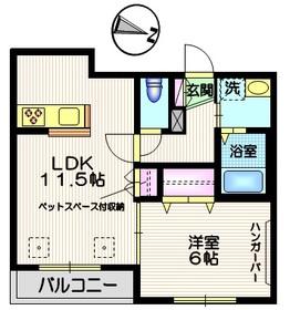 メゾン ド スリジェ2階Fの間取り画像