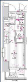 ガーラ横濱関内グランドステージ6階Fの間取り画像