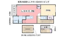 エーデルワイスⅡ3階Fの間取り画像