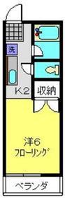 ベルクリーン36C1階Fの間取り画像