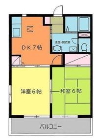 鶴ヶ峰駅 徒歩12分1階Fの間取り画像