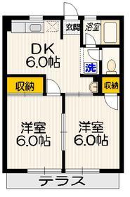 シティハイム トヨダ1階Fの間取り画像