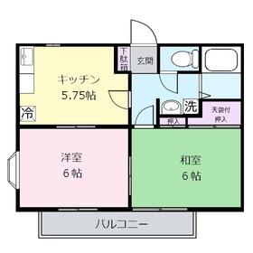グランメール1階Fの間取り画像