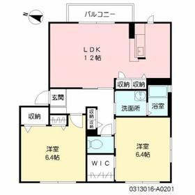ユーメゾン新大江2階Fの間取り画像