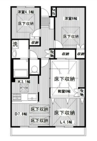 東戸塚駅 徒歩10分3階Fの間取り画像