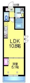 仮称)坪井東1丁目メゾン1階Fの間取り画像