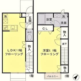 京王多摩川駅 徒歩28分1階Fの間取り画像