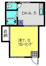 インペリアルハイム1階Fの間取り画像