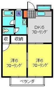 フジハイムA2階Fの間取り画像