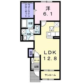 サンリット・セイバリー Ⅰ1階Fの間取り画像