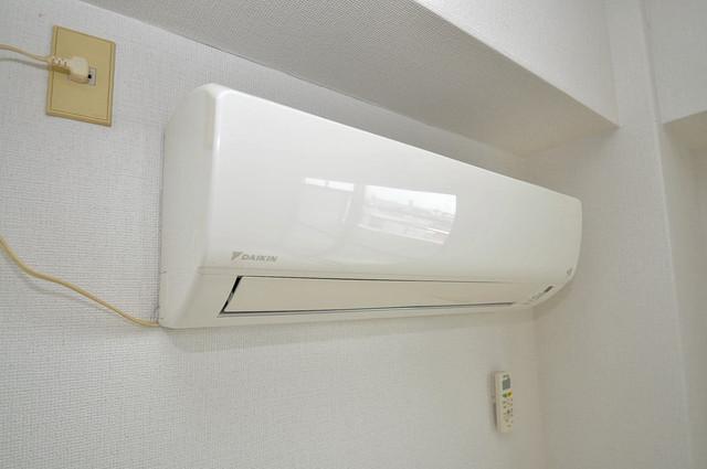 スカイプラザⅢ エアコンがあるのはうれしいですね。ちょっぴり得した気分。