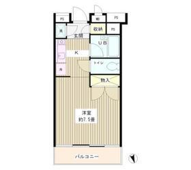 グリーン江戸川橋6階Fの間取り画像