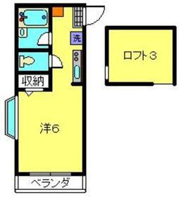 クレドアネックス白楽2階Fの間取り画像