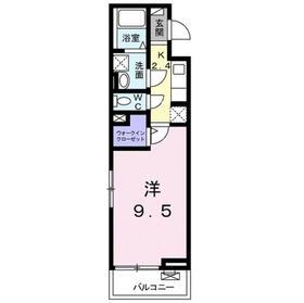 カニ・エヒク・カシワ2階Fの間取り画像