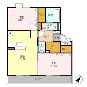プリマベーラ3階Fの間取り画像