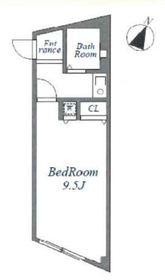 大島ビル3階Fの間取り画像