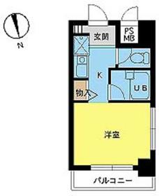 スカイコート早稲田第22階Fの間取り画像