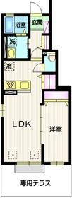 千歳船橋駅 徒歩19分1階Fの間取り画像
