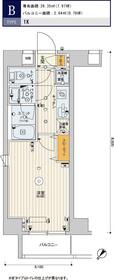 スカイコートパレス押上Ⅱ7階Fの間取り画像
