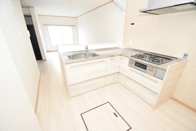 横沼町1-9-12 貸家 システムキッチンなので広々使えて、お料理もはかどります。