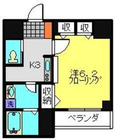 サクセス7階Fの間取り画像