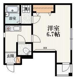 MAISON ETOILE1階Fの間取り画像