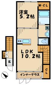 コンチェルト2階Fの間取り画像
