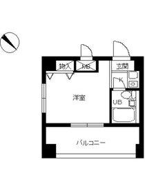 スカイコート横浜平沼6階Fの間取り画像