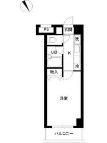 スカイコート文京小石川第32階Fの間取り画像