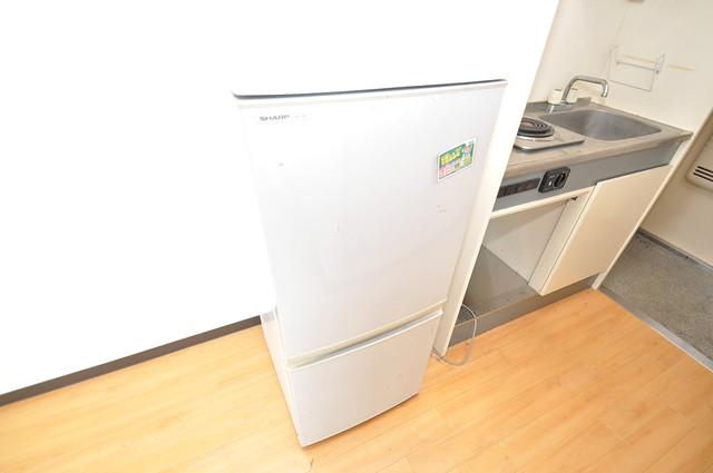 サニーハイム小若江 こんなに大きな冷蔵庫が初めから付いてるなんてお得感満載。