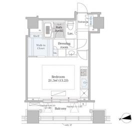 シティタワー高輪13階Fの間取り画像